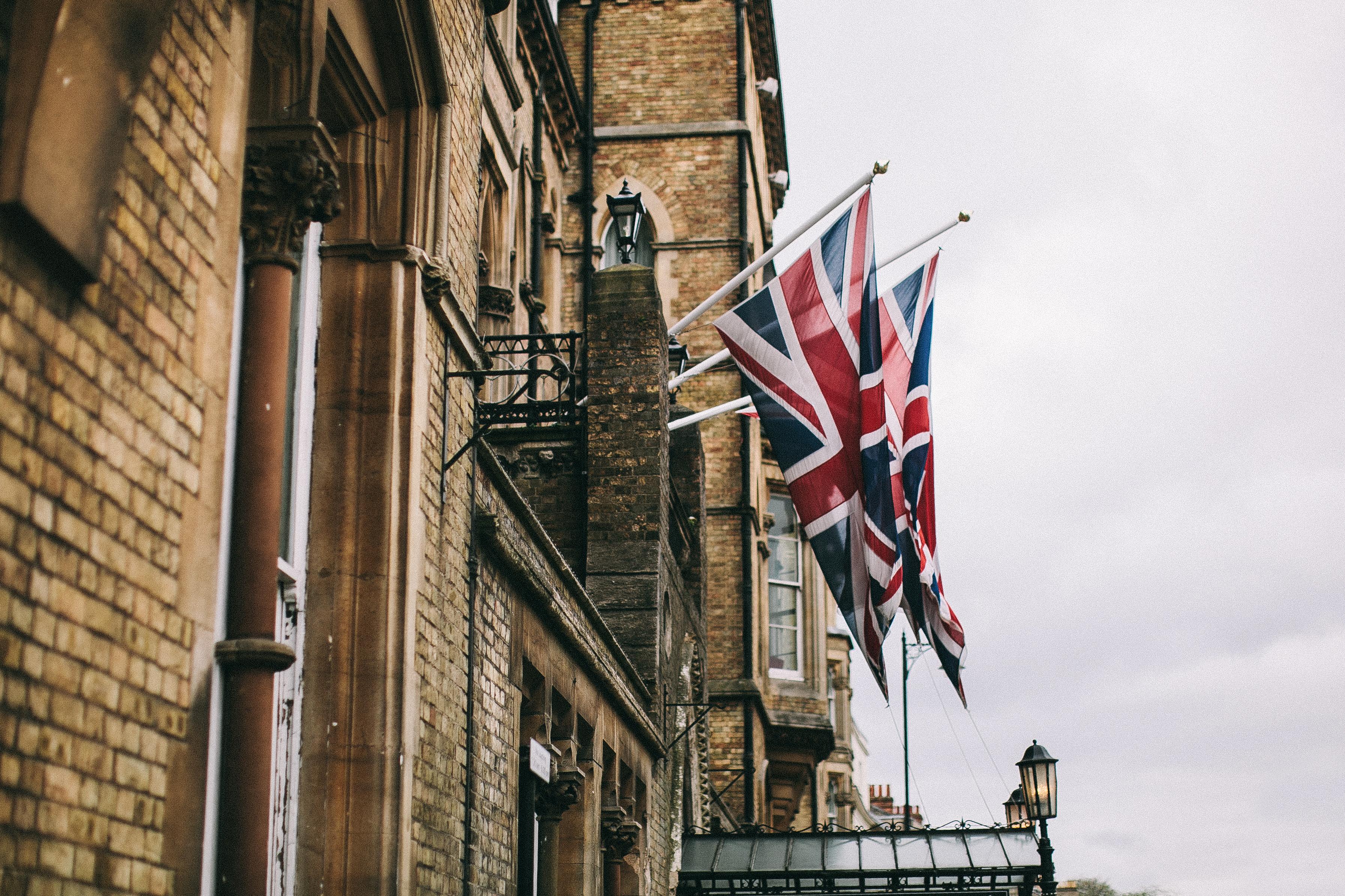 anglické vlajky