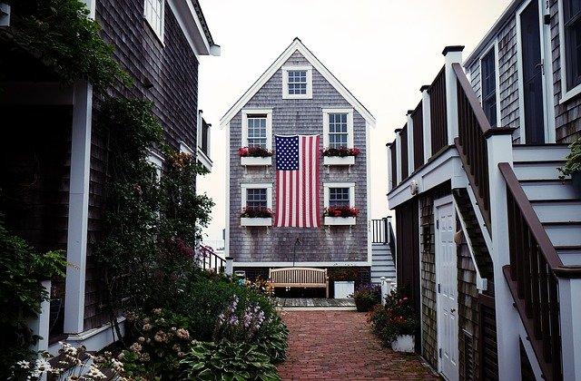 dům americká vlajka