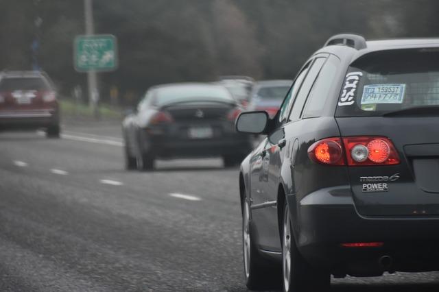 hustý silniční provoz